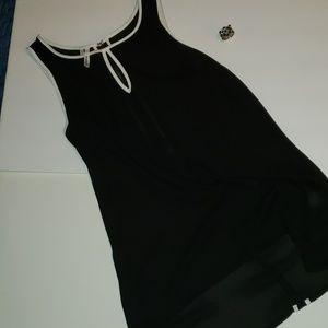 Studio Y silk black and white tank top